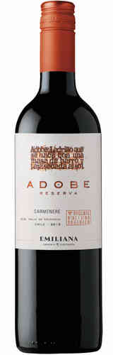 Adobe Carmenère Reserva DO 2017 Emiliana Biowein