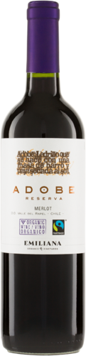 Adobe Merlot Reserva DO 2017 Biowein Emiliana